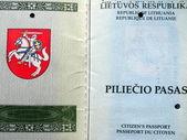 Lithuanian passport page — Stock Photo