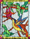 Painted bird — Stock Photo