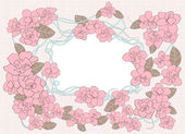 Floral template. — Cтоковый вектор