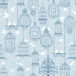 Royalty-Free Stock : Birds and cages background