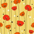 Poppies background — Wektor stockowy  #8456575