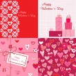 Stock Vector: Valentines backgrounds