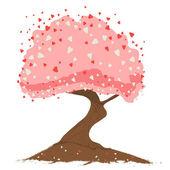 Heart tree — Stockvektor