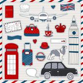 London travel icons — Stock Vector