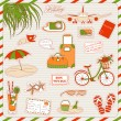 Holiday icons — Stock Vector