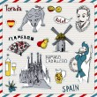 Spain icons - Stock Vector