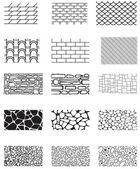 Tekstury budynku — Wektor stockowy