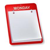Blank calendar — Stock Vector