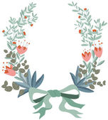Wreath floral — Stock Vector