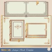 4 模板古书 — 图库矢量图片