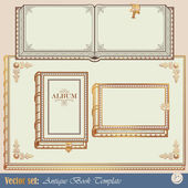 4 Templates antiquarian books — Stock Vector
