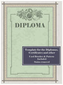 Diploma template — Stock Vector
