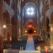 Inside the cathedral of Modena, seen from the altar — Stock Photo