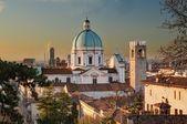 The dome of Duomo Nuovo in Brescia after sunrise — Stock Photo