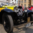 Постер, плакат: 1930 built yellow Bugatti Type 40A at 1000 Miglia vintage car race in Brescia