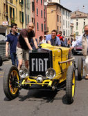 1926 built yellow FIAT 509 sport Monza at 1000 Miglia vintage car race in Brescia — Stock Photo