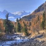 Autumn landscape in Val Roseg, Switzerland — Stock Photo #9645309