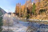 Mountain landscape in Val Roseg, Switzerland — Stock Photo