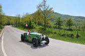 A green 1931 built Talbot AV 105 vintage car at 1000 Miglia vintage car race — Stock Photo