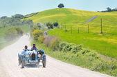 A 1925 built light blue BUGATTI Type 35 A at 1000 Miglia vintage car race — Stock Photo