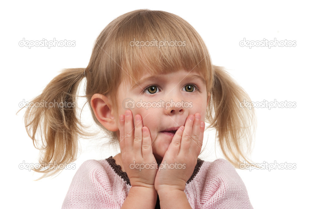 Shocked surprised cute child — Stock Photo #8325351