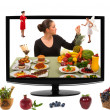 Eating Healthy Food - Foto Stock