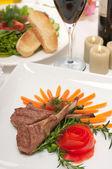 Lamb Chops and Wine — Stock Photo