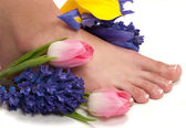 Pedicured feet — Stock Photo
