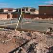 Foundation of a new luxury home — Foto Stock