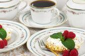 Tart and Coffee — Stock Photo