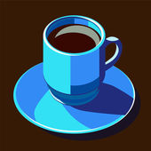 Coffecup blue — Stock Vector