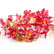 Flowers of red glass - Stock Photo