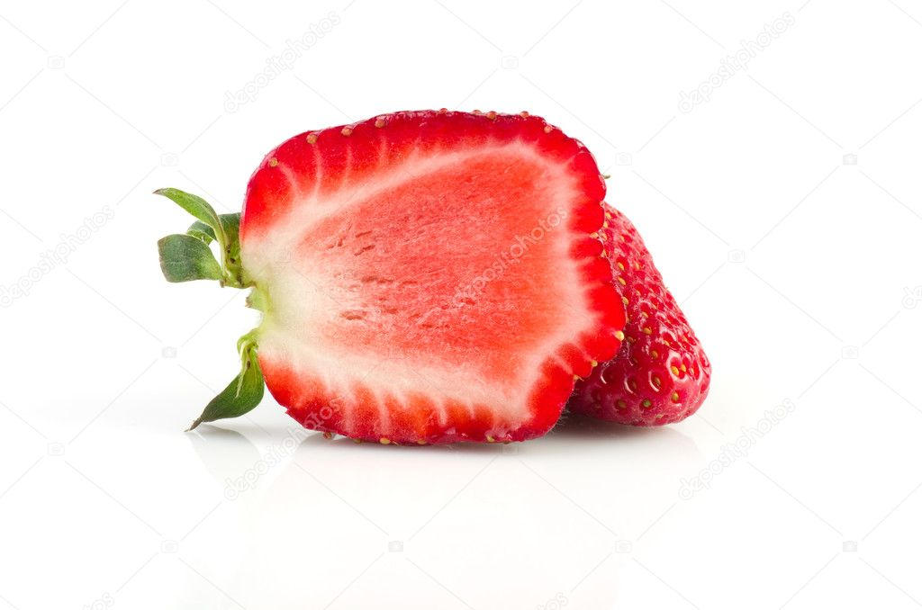 Strawberries berry isolated on white background — Stock Photo #10427803