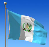 Flag of Guatemala against blue sky — Stock Photo