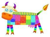 Design cow. — Stock Vector