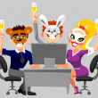 New Year corporate party — Stock Photo #8186073