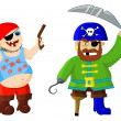 Royalty-Free Stock Photo: Funny cartoon pirates