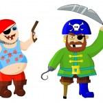 Funny cartoon pirates — Stock Photo #9965186