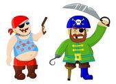 Funny cartoon pirates — Stock Photo