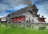 Steam locomotive. — Stock Photo