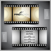 Vector set of creative business cards (film) — Stock Vector