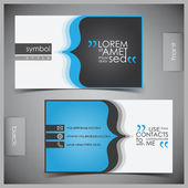 Vector set of creative business cards — Stok Vektör