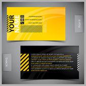Uppsättning av kreativa visitkort — Stockvektor