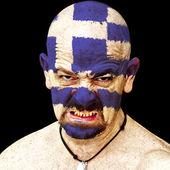 希腊体育迷 — 图库照片