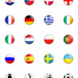 Euro 2012 european championship button badges — Stock Photo