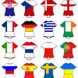 Euro 2012 european championship flag strips — Stock Photo
