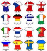 Euro 2012 european championship flag strips — Stock Photo
