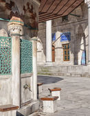Ablution taps at sokullu pasa camii Mosque — Stock Photo