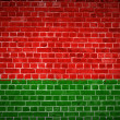 Brick Wall Belarus — Stock Photo