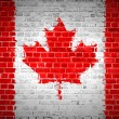 Brick Wall Canada — Stock Photo